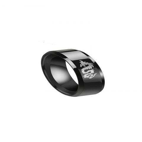 Fashionable Simple Men's Tyrant Ring - BLACK US 10