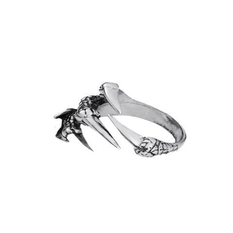 European and American Style Creative Men's Open Dragon Claw Ring - SILVER US 9