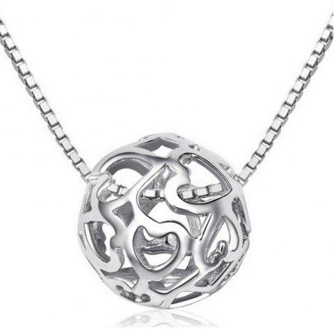 Hollowed Necklace Gift Jewelry - SILVER 1 SET