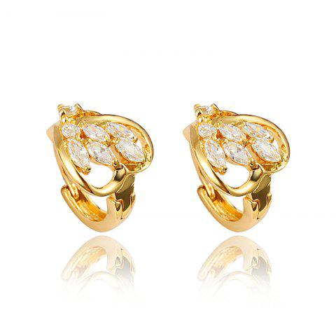Heart -Shaped Stud Earring with18K Gold Plated Jewelry for Women - multicolor G