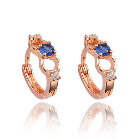 Fashion 18K Gold Plated Element Stud Earrings For Women - multicolor E