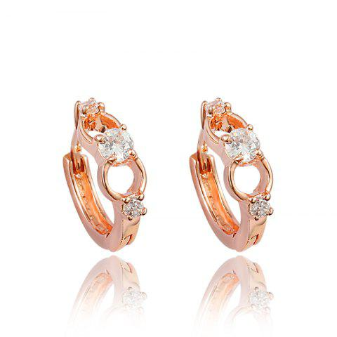 Fashion 18K Gold Plated Element Stud Earrings For Women - multicolor D