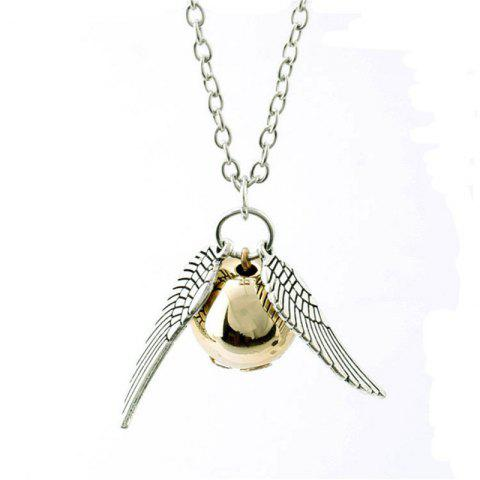 Personality Creative Men's Wings with Ball Necklace - SILVER