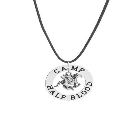 European and American Fashion Men Flying Pony Necklace - SILVER