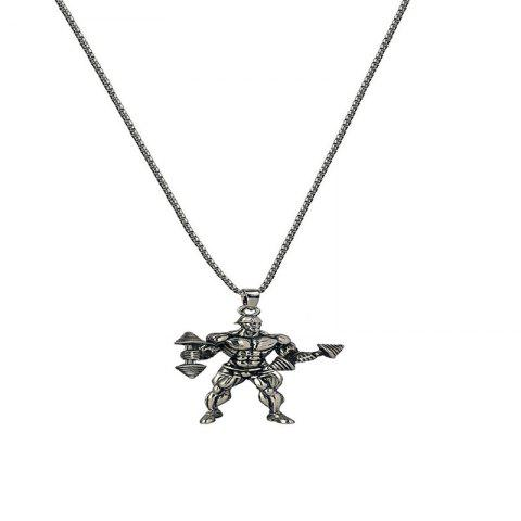 Fashion Creative Men's Fitness Necklace - SILVER