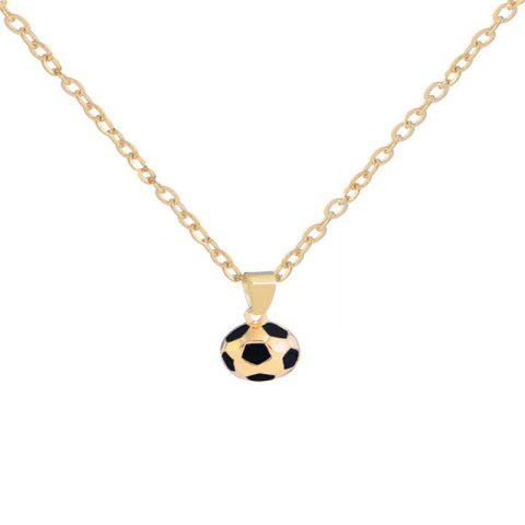 Fashionable and Delicate Men's Football Necklace - GOLD