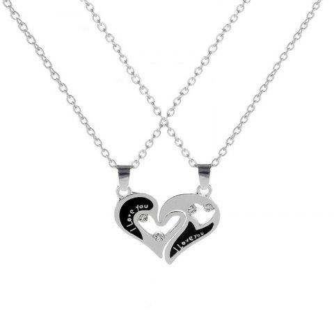 Sweet Fashion Moon Loving Necklace - SILVER