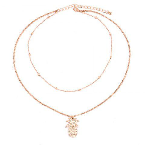 Sweet Beauty Pineapple Multilayer Necklace - GOLD