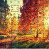 3D Jigsaw Red Tree Paper Puzzle Block Assembly Birthday Toy - multicolor