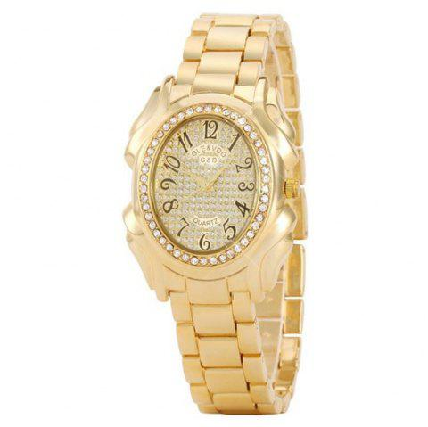 Ladies Oval Bracelet Quartz Watch - multicolor A