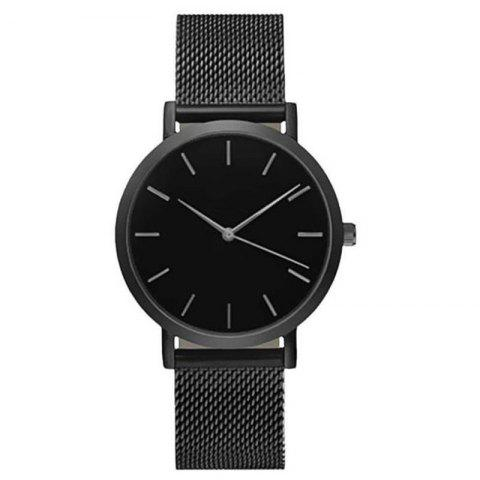 Fashionable Stainless Steel Quartz Watch - multicolor A