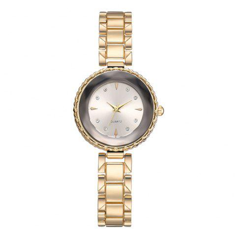 Xr3167 Women'S Quartz Watch Personality Sun Flower Dial Steel Belt Ladies Watch - SILVER