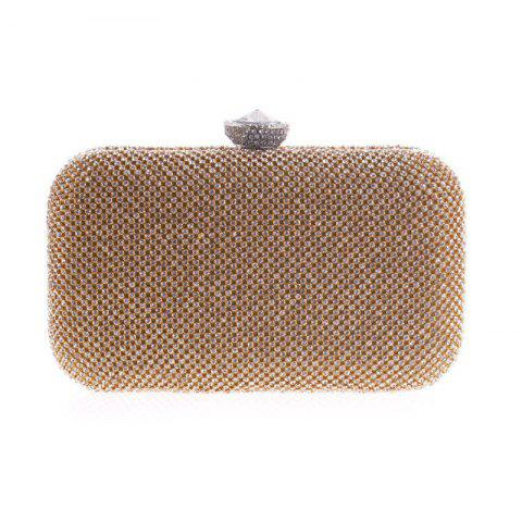 Classic Fashion Lady Evening Bag Set Auger Hand Bag in Europe and The Trend - CHAMPAGNE GOLD