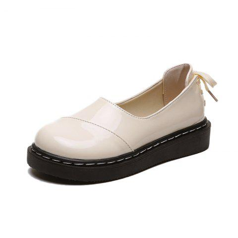 Comfortable White Tied Casual Womens Shoes with Straps At The Back - MILK WHITE EU 37
