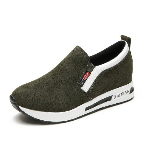 Comfortable Womens Leisure Shoes - ARMY GREEN EU 35