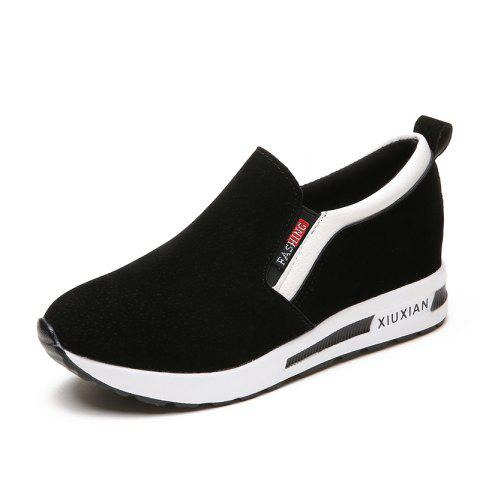 Comfortable Womens Leisure Shoes - BLACK EU 39