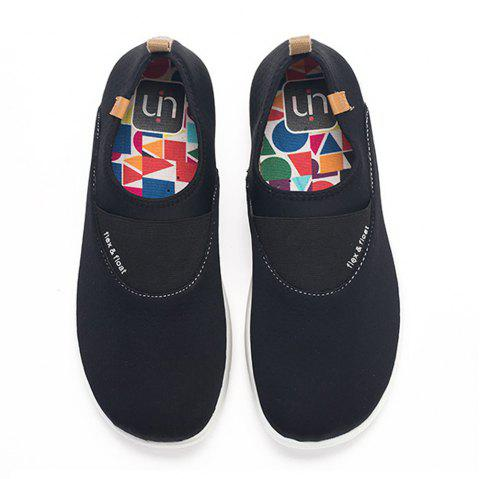 4283f9b18e UIN Men s Painted Sintra Slip-On Shoes Fashion Travel Art Casual Shoes  Black - JET