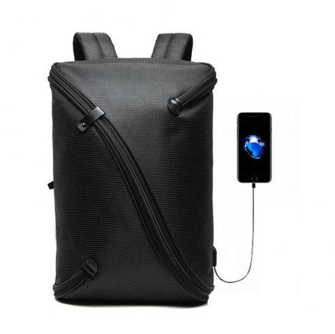 Usb Charging Anti-Theft Backpack for Men and Women Laptop Backpacks - BLACK 1PC