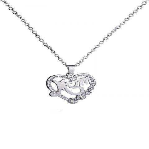 Delicate Baitao Lady's Mother's Loving Necklace - SILVER