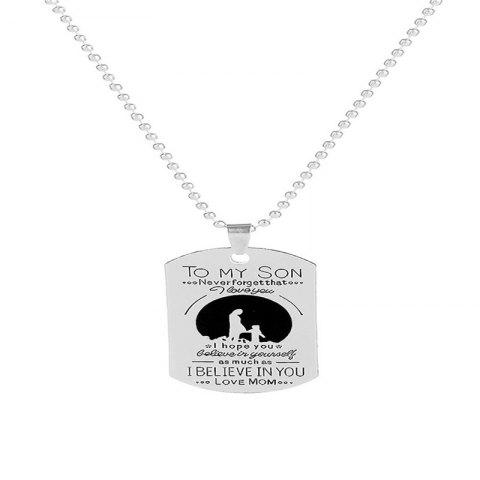 Leisure  Simple Men's Son Letter Iron Brand Necklace - SILVER