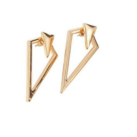 Creative Lady Asymmetric Geometric Long Pointed Earrings - GOLD