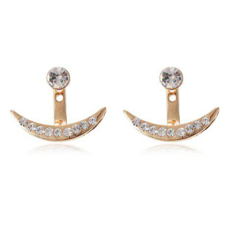 Fashionable Personality Ladies Drill Crescent Ear Nails - GOLD