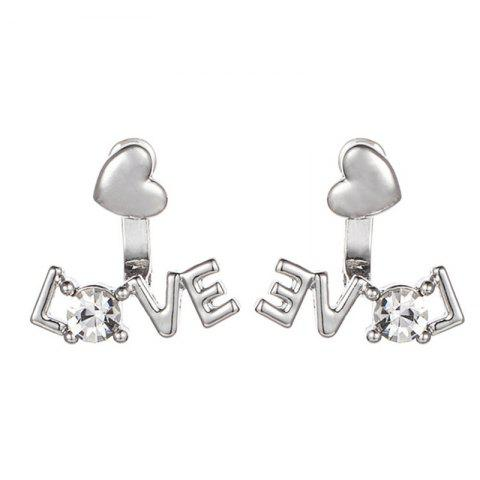 Simple Lady Baitao Glossy Love Ear Nail - SILVER