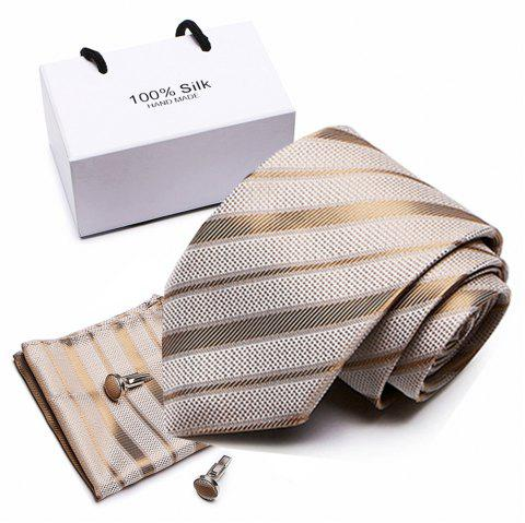 Polyester Silk Tie for Men Is A Business Tie and A Wedding Tie - multicolor B 1 SET