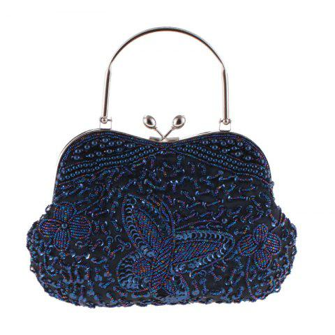 Lady'S Classical Color Beaded Pure Handicraft Bump Beaded Dinner Packages - MIDNIGHT BLUE