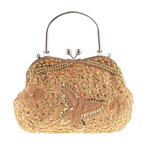 Lady'S Classical Color Beaded Pure Handicraft Bump Beaded Dinner Packages - GOLD