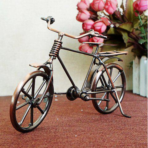 Vintage Wrought Iron Bicycle Model - multicolor A