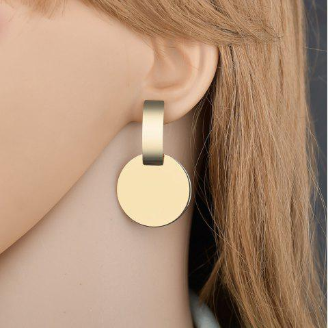 Fashion Simple Geometric Earrings - GOLD 1 PAIR
