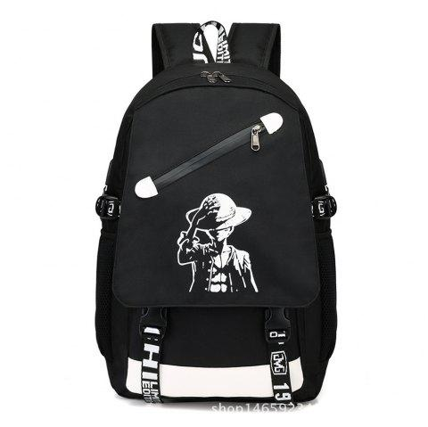Usb Charging Boy Backpack British Simple Personality Versatile Computer Bag - NIGHT 1PC