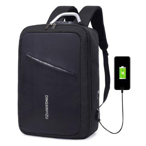 Business Backpack Male Computer Bag Large Capacity Anti-Theft Business Trip Back - BLACK 1PC