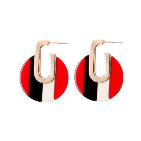 Multicolor Geometric Round Earrings Personalized Alloy Temperament Earrings - NIGHT 1 PAIR