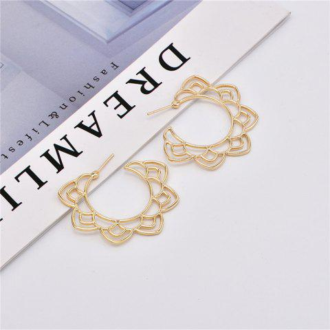 Fashion Baitao Lady's Hollowed-Out Earrings - GOLD