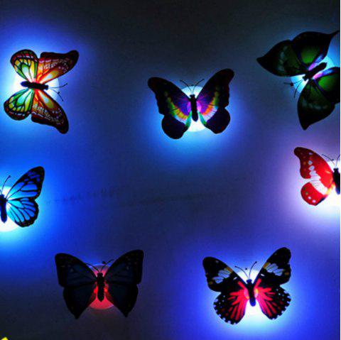 Colorful  Butterfly LED Night Light Home Decorations - multicolor
