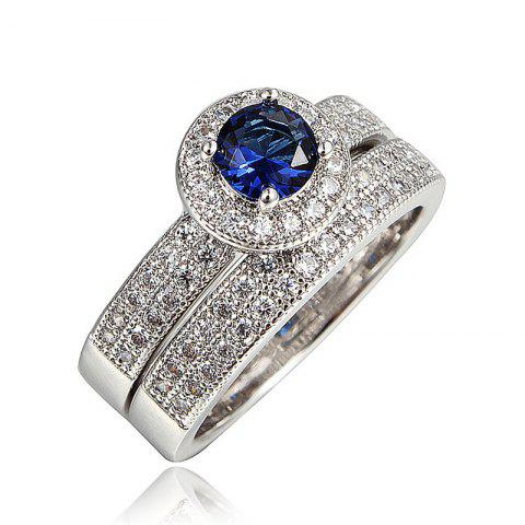 Rings Elegant Fashion Jewelry Wedding Band Gifts For Women Fashion New - BLUE US 7