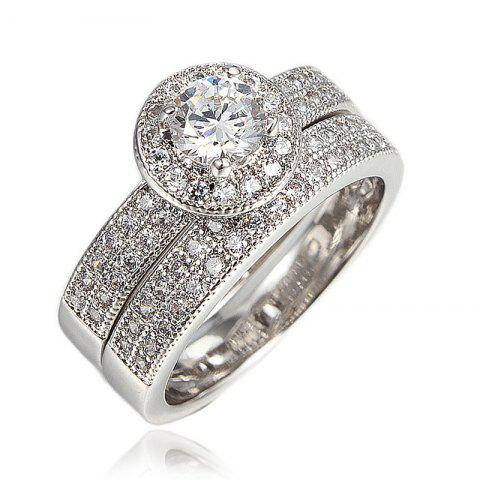 Rings Elegant Fashion Jewelry Wedding Band Gifts For Women Fashion New - TRANSPARENT US 8