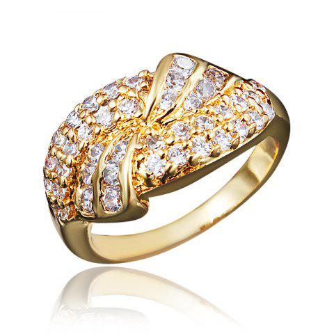 Elegant Diamonds18k Gold Plated For Women Ring Fashion Newes Jewelry - GOLD US 9