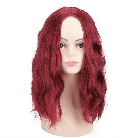 Women'S Fashion Short Hair Curly Hair Wig - RED WINE