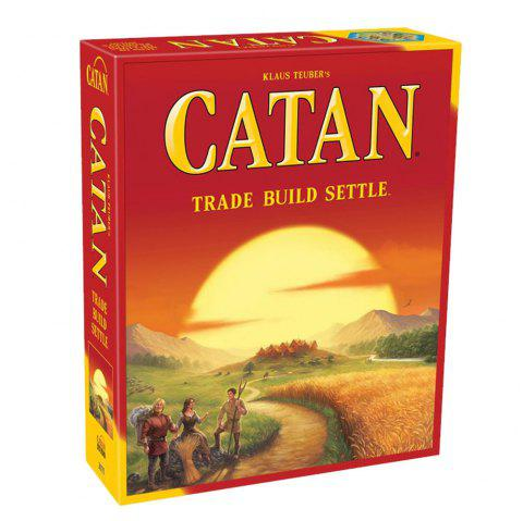 Catan Extended Solitaire Multiplayer Game - BRIGHT ORANGE 1 SET