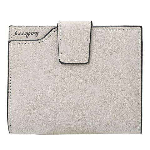 Baellerry Zipper Matte PU Leather Women Wallet - PLATINUM 12*10*2