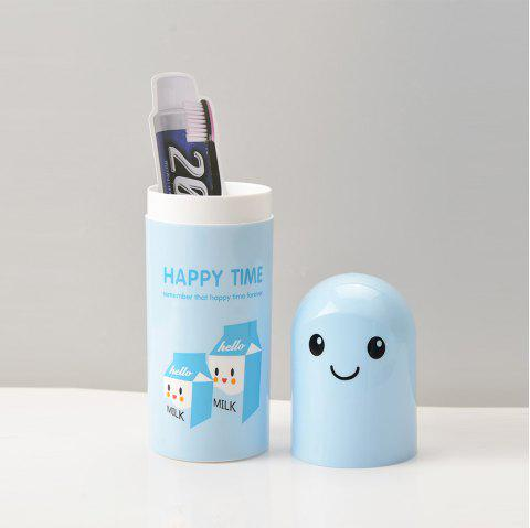 Toothbrush Storage Box Adorable Portable Travelling Box Cartoon Toothbrush Box - LIGHT BLUE