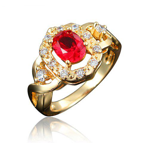 Fashion 18K Gold Plated Rings for Women Gift Party Jewelry - multicolor H US 7