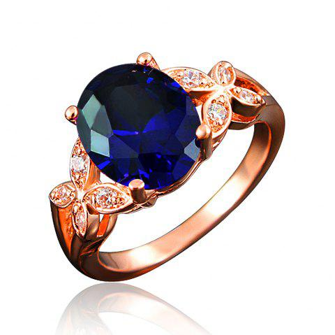 18K Gold Plated Rings For Women Wedding Band Jewelry Gift For Brithday - multicolor H US 8