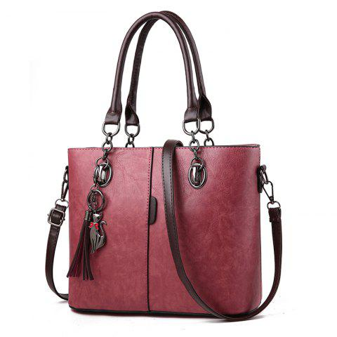 Atmospheric Women  'S Sac en cuir PU Épaule épaulée Sac à main Grand sac Femmes - Rouge Lave