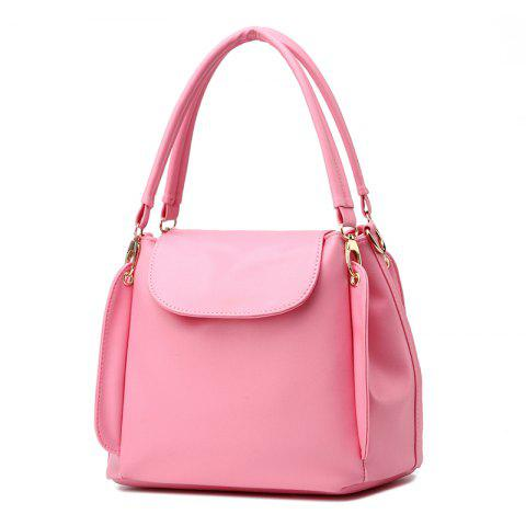 Baobao Girl OL Commuting Simple Three-Layer Soft Bao Woman Slanting Hand - PINK