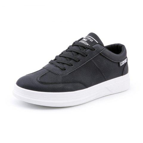 Women'S Low-Top Sneakers with Versatile Flat Bottom Shoes Large Size - BLACK EU 44