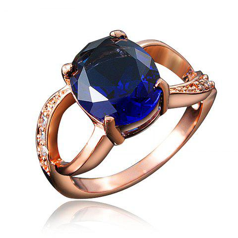 18K Gold Plated Exquisite Ring For Women Birthday Wedding And Anniversary Gift - multicolor E US 8